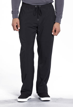 Cherokee Infinity by Cherokee Men's Men's Tapered Leg Drawstring Pant Black
