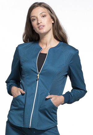 Cherokee Cherokee Luxe Sport Women's Zip Front Warm-up Jacket Blue