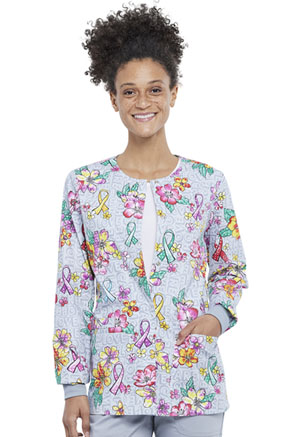 Cherokee Snap Front Jacket Friendly Flowers (CK301-FFOW)