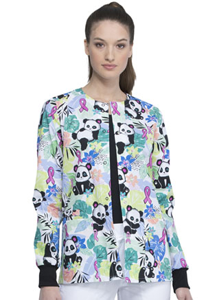 Cherokee Snap Front Warm-up Jacket Garden Panda-monium (CK301-GPUM)