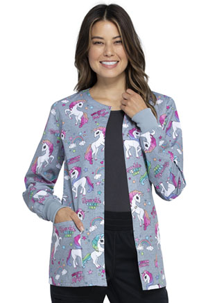 Cherokee Prints Snap Front Warm-up Jacket (CK301-SPEV) (CK301-SPEV)