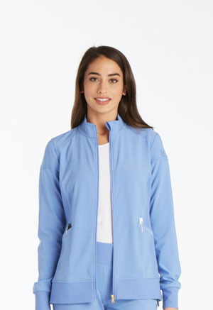 Cherokee Cherokee iFlex Women's Zip Front Warm-Up Jacket Blue