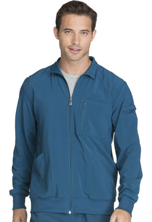 Cherokee 'Men's Zip Front Jacket Caribbean Blue (CK305A-CAPS)
