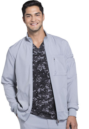 Cherokee 'Men's Zip Front Jacket Grey (CK305A-GRY)