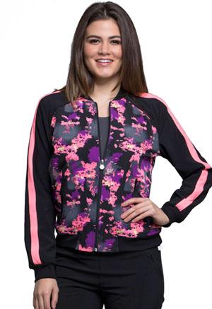 Cherokee Infinity by Cherokee Women's Zip Front Jacket Don't Mesh Around