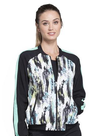 Cherokee Infinity by Cherokee Women's Zip Front Jacket Shades Of Grey