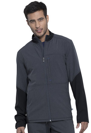 Cherokee Men's Zip Front Jacket Heather Charcoal (CK314A-HTCH)