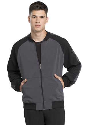 Cherokee Men's Colorblock Zip Front Jacket Heather Charcoal (CK335A-HTCH)