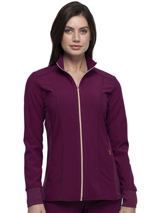 Cherokee Zip Front Jacket Wine (CK365-WIN)