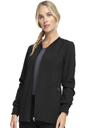 Cherokee Infinity by Cherokee Women's Zip Front Warm-Up Jacket Black