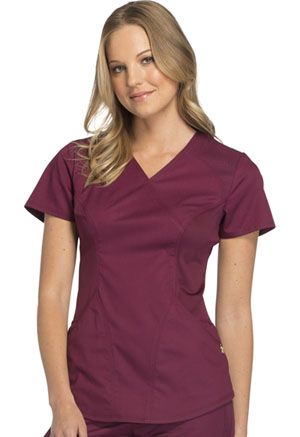 Cherokee Mock Wrap Top Wine (CK603-WINV)