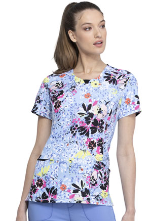 Cherokee Round Neck Top Beautiful Blooms (CK609-BUUB)