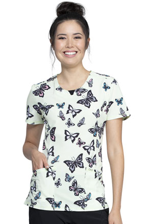 Cherokee Round Neck Top Let's Fly (CK609-LETF)