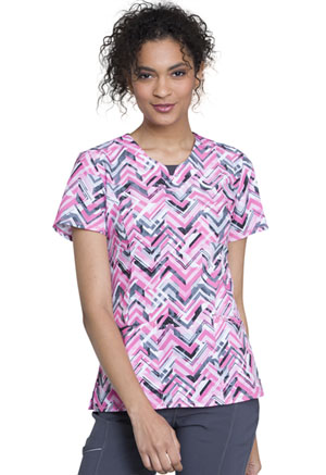 Cherokee Round Neck Top Simply Chevron (CK609-SUCV)