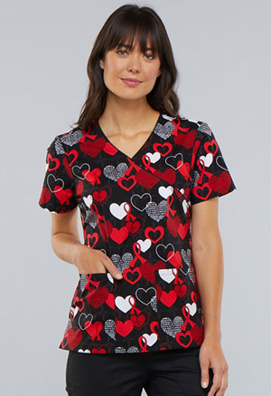 Cherokee Mock Wrap Top Heart Smart (CK614-HTSM)