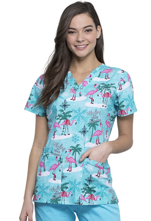 Cherokee V-Neck Top Winter Flamingo (CK616-WIFA)