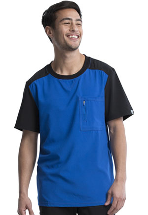 Cherokee Men's Colorblock Crew Neck Top Royal (CK630A-RYPS)