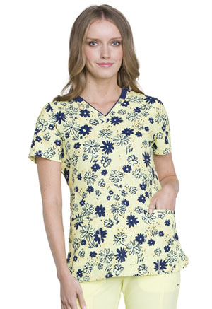 Cherokee V-Neck Top Hand-picked Posies (CK634-HAPS)