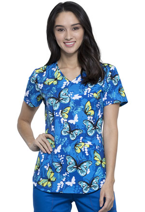 Cherokee Prints V-Neck Top (CK637-FLAZ) (CK637-FLAZ)