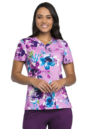 Cherokee V-Neck Top Blissfully In Bloom (CK646-BBNM)