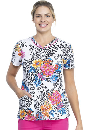 Cherokee V-Neck Top Leopard Bloom (CK646-LEBM)