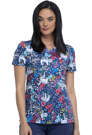 Cherokee V-Neck Top No Hurries No Worries (CK646-NHNW)