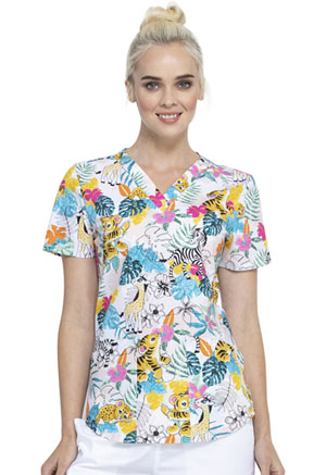 Cherokee V-Neck Top Tropical Playground (CK652-TRPG)