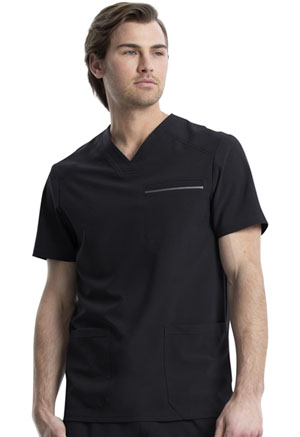 Cherokee Men's V-Neck Top Black (CK661-BLK)