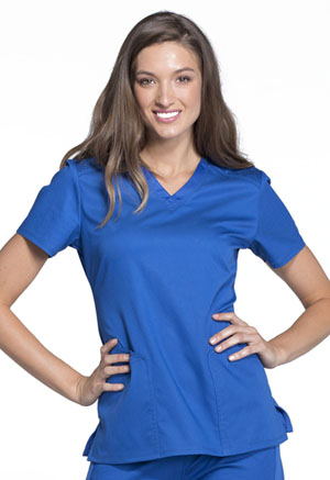 Cherokee V-Neck Top Royal (CK670-ROYV)