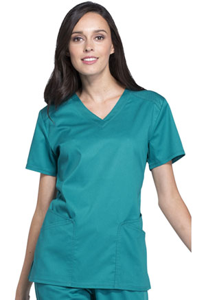 Cherokee V-Neck Top Teal (CK670-TEAV)