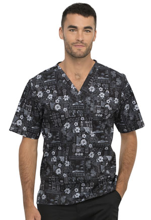 Cherokee Men's V-Neck Top It's Tiki Time (CK675-ITIK)