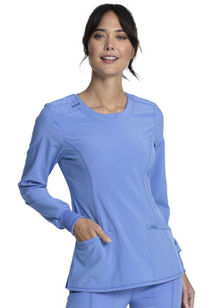 Cherokee Long Sleeve V-Neck Top Ciel (CK781A-CIPS)