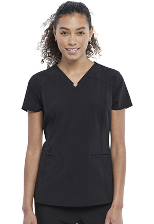 Statement V-Neck Top (CK798-BLK) (CK798-BLK)