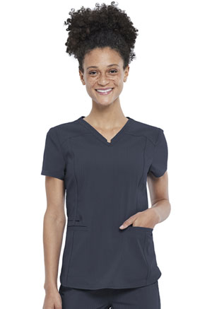 Cherokee V-Neck Top Pewter (CK798-PWT)