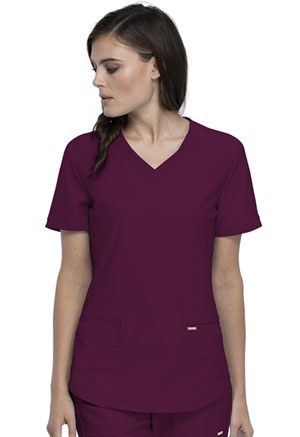 Cherokee V-Neck Top Wine (CK840-WIN)