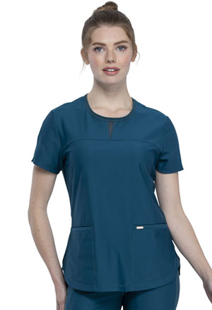 Cherokee Round Neck Top Caribbean Blue (CK841-CAR)