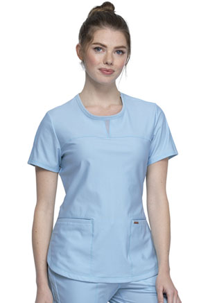 Cherokee Round Neck Top Sky Blue (CK841-SUEB)