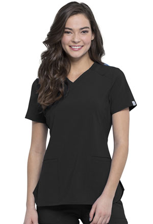 Cherokee V-Neck Top Black (CK865A-BAPS)