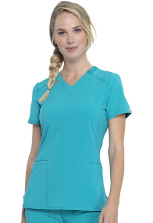 Cherokee V-Neck Top Teal Blue (CK865A-TLPS)