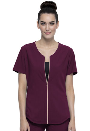 Cherokee Zip Front Top Wine (CK875-WIN)