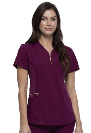 Cherokee Y-Neck Top Wine (CK876-WIN)