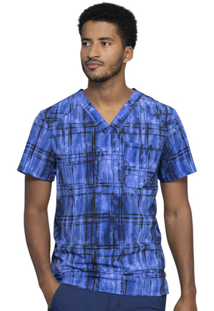 Cherokee Men's V-Neck Top Plaid Tie Dye (CK902-PLTY)