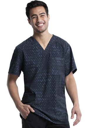 Cherokee Men's V-Neck Top Tri It Out (CK920-TRII)