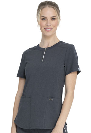 Cherokee Round Neck Top Heather Charcoal (CK926A-HTCH)