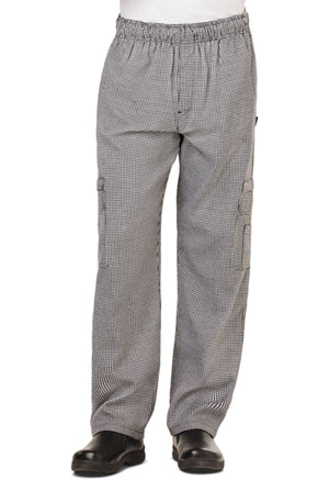 Dickies Chef Men's 5 Pocket Cargo Pant in Houndstooth (DC10-HDTH)