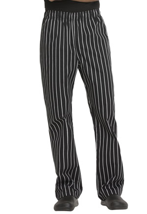 Dickies Chef Unisex Traditional Baggy 3 Pocket Pant in Black/White Stripe (DC11-CKSP)