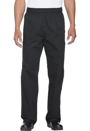 Dickies Chef Unisex Elastic Waist Cargo Pocket Pant in Black (DC12-BLK)