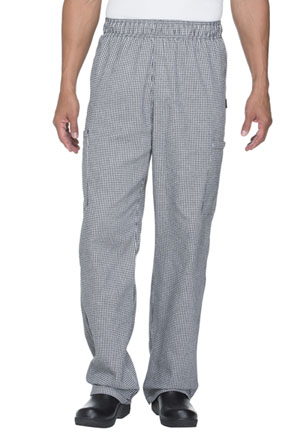 Dickies Chef Unisex Elastic Waist Cargo Pocket Pant in Houndstooth (DC12-HDTH)