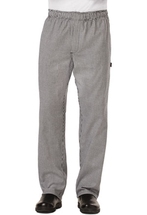 Dickies Chef Men's Traditional Baggy Zipper Fly Pant in Houndstooth (DC14-HDTH)