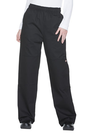 Dickies Chef Unisex Double Knee Baggy Elastic Pant in Black (DC15-BLK)
